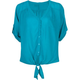 FULL TILT Womens Tie Front Blouse