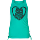 FULL TILT Heart Owl Cinch Side Girls Tank