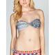 HURLEY Tribal Fusion Twist Bandeau Bikini Top