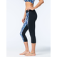 FULL TILT SPORT Galaxy Print Womens Capri Leggings