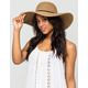 Mixed Straw Floppy Hat
