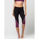 FULL TILT SPORT Side Print Womens Capri Leggings