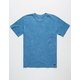 RVCA Label Mineral Wash Mens T-Shirt