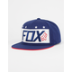 FOX Red White And True Mens Snapback Hat