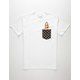 RIOT SOCIETY Polka Dot Babe Mens Pocket Tee