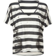 PROJECT SOCIAL T Rock Stripe Womens Tee