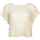 LOST Butterfly Womens Lace Top