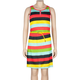 FULL TILT Placket Stripe Girls Belted Dress