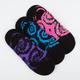 FULL TILT 3 Pair Tie Dye Womens No Show Socks