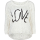 FULL TILT Love Womens Hi Low Sweater