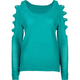 PRETTY REBELLIOUS Womens Cold Shoulder Sweater