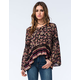 PATRONS OF PEACE Womens Crochet Floral Top