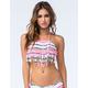 DAMSEL Fringe High Neck Halter Bikini Top