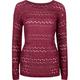 FULL TILT Open Weave Womens Tunic Sweater