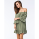 SOCIALITE Womens Bell Sleeve Off The Shoulder Dress