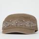 Rhinestone Front Womens Military Hat