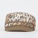 Leopard Print Womens Military Hat
