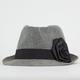 Twill Ribbon Rose Womens Fedora