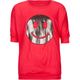 FULL TILT Metallic Smiley Face Girls Tee