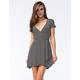 FULL TILT Striped Wrap Dress