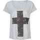 FULL TILT Pyramid Stud Cross Womens Tee