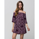FIRE Disty Pat Off The Shoulder Dress