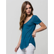 FULL TILT Womens Ribbed Pocket Tee
