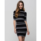 SAY WHAT? Mock Neck Midi Dress