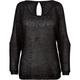 FULL TILT Sequin Womens Cold Shoulder Sweater