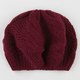 Cable Knit Womens Beret