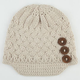 3 Button Womens Visor Beanie
