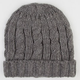 Roll Cuff Cable Knit Beanie