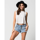 BILLABONG Buttoned Up Womens Denim Shorts