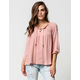 TAYLOR & SAGE Lace Up Womens Top