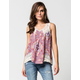 TAYLOR & SAGE Mixed Print Womens Top
