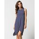 ALMOST FAMOUS High Neck Striped Dress