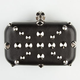 Skull Close Studded Clutch