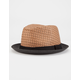 BLUE CROWN Straw Mens Fedora