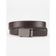 MISSION Gun Metal Mens Leather Belt