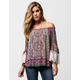 PATRONS OF PEACE Off The Shoulder Womens Top
