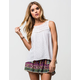 PATRONS OF PEACE Lace Inset Womens Top