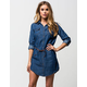 HIGHWAY JEANS Belted Denim Dress
