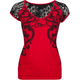METAL MULISHA Alluring Lace Back Womens Tee