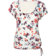 FULL TILT Lace Back Floral Womens Top