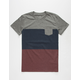 BLUE CROWN Timber Colorblock Mens Pocket Tee