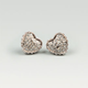 FULL TILT Rhinestone Heart Button Earrings