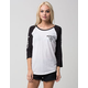 HURLEY Replay Womens Raglan Tee