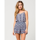 ANGIE Ethnic Print Womens Romper