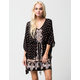 ANGIE Border Print Caftan Dress