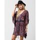 Angie Paisley Caftan Dress